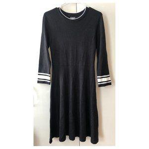Vince Camuto black knit dress